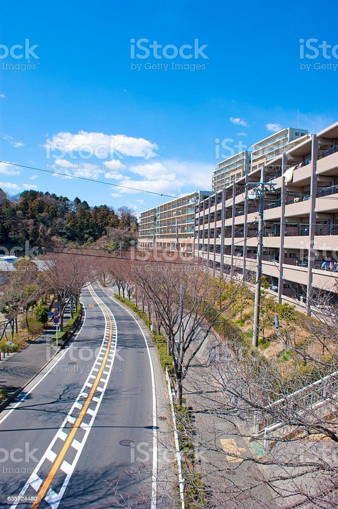 Japanese apartment in Kanagawa 2 stock photo