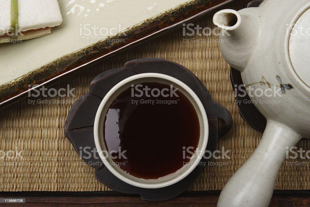 Japanese apricot tea stock photo
