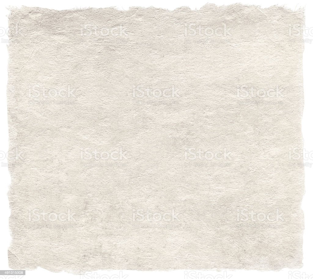 Japanese artistic washi paper isolated on white stock photo