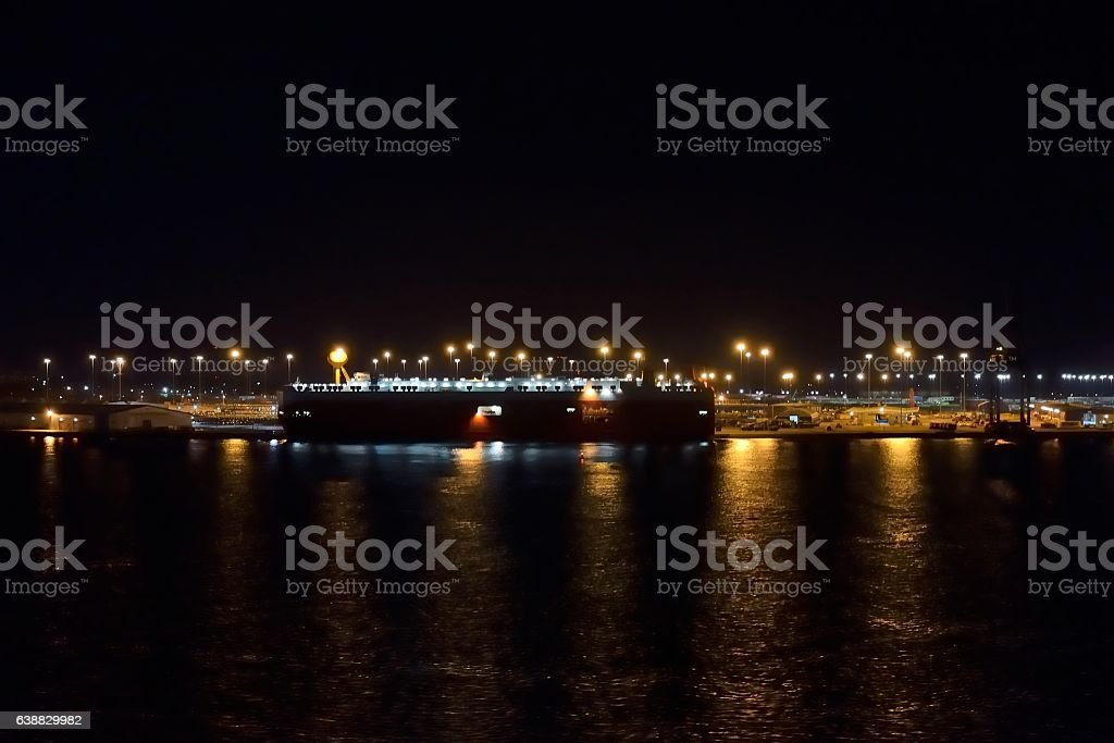 Japanese Auto Ship at Port of Baltimore stock photo