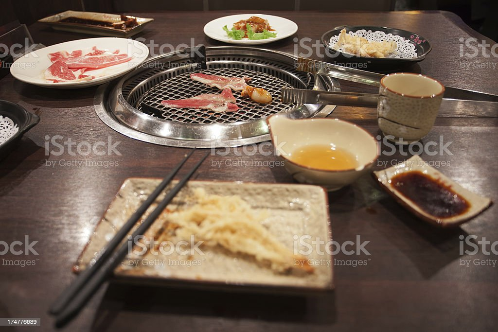 Japanese barbeque restaurant stock photo