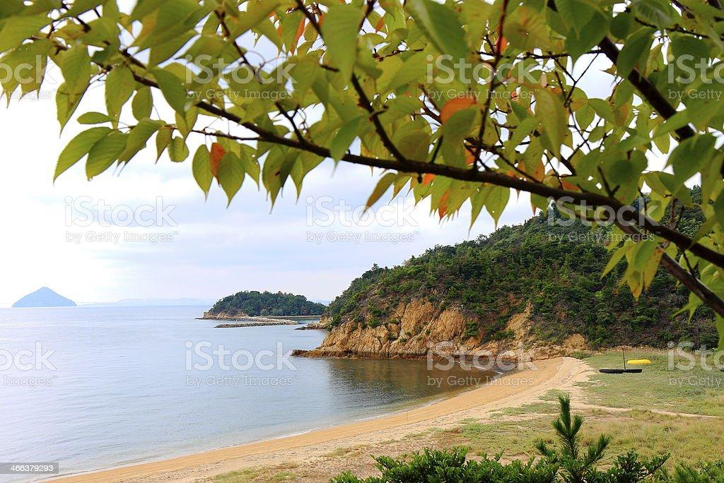 Japanese beach stock photo