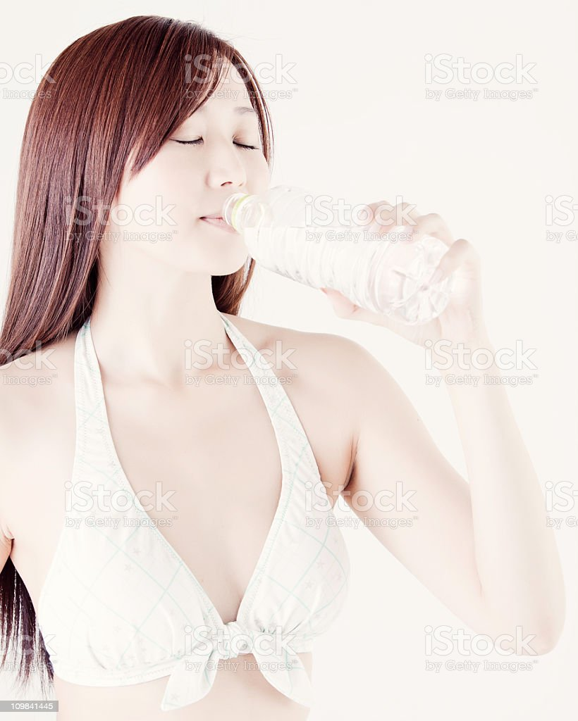Japanese Beauty with Water stock photo