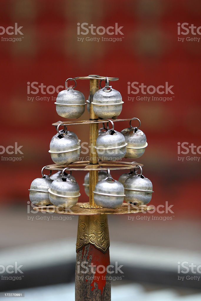 japanese bells royalty-free stock photo