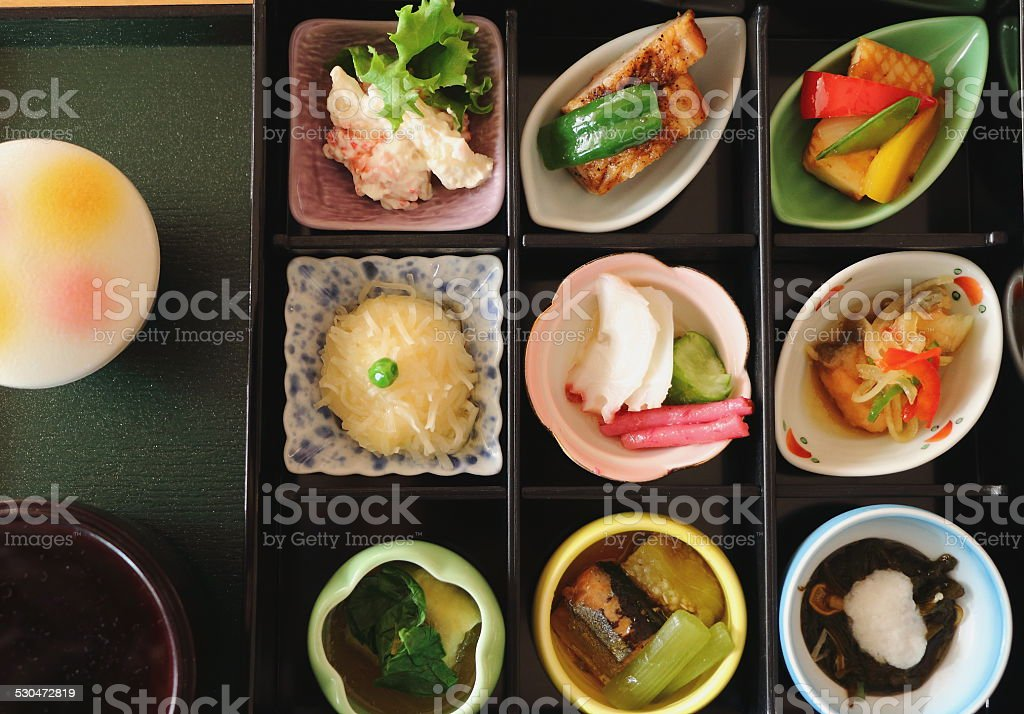 Japanese bento stock photo