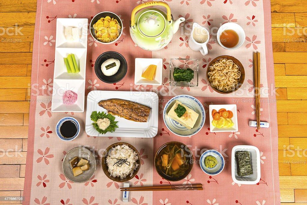 Japanese breakfast royalty-free stock photo