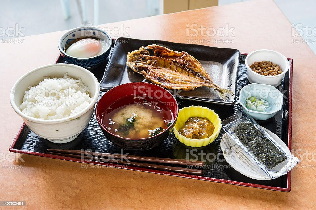 Japanese breakfast royalty-free stock photo