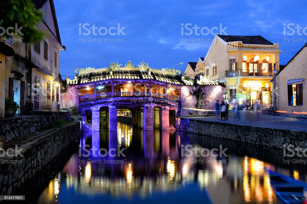 Japanese Bridge, Hoi An stock photo