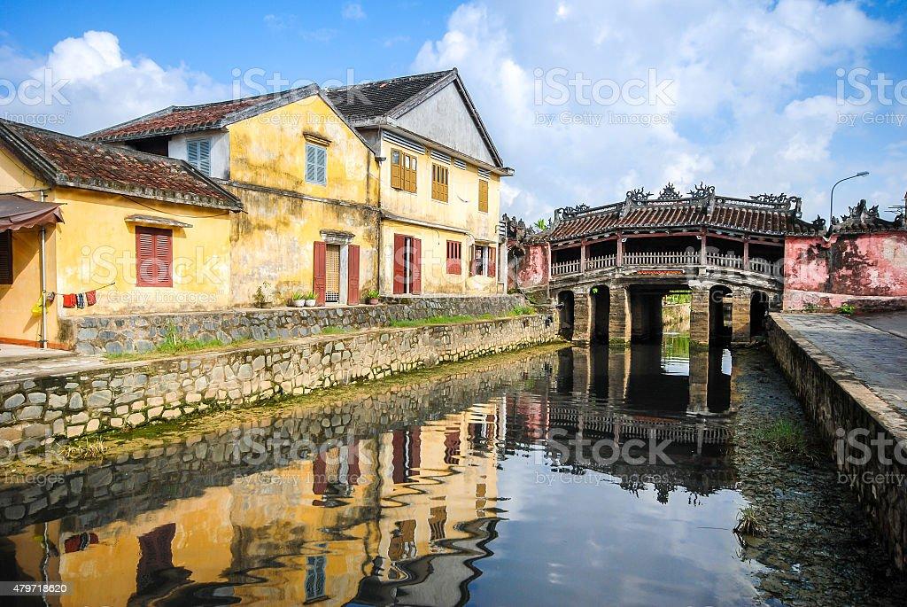 Japanese Bridge in Hoi An, Vietnam stock photo