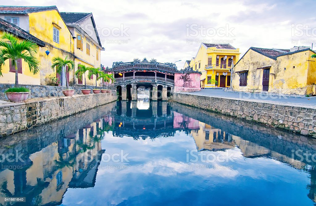 Japanese Bridge in Hoi An. Vietnam, Unesco World Heritage Site. stock photo