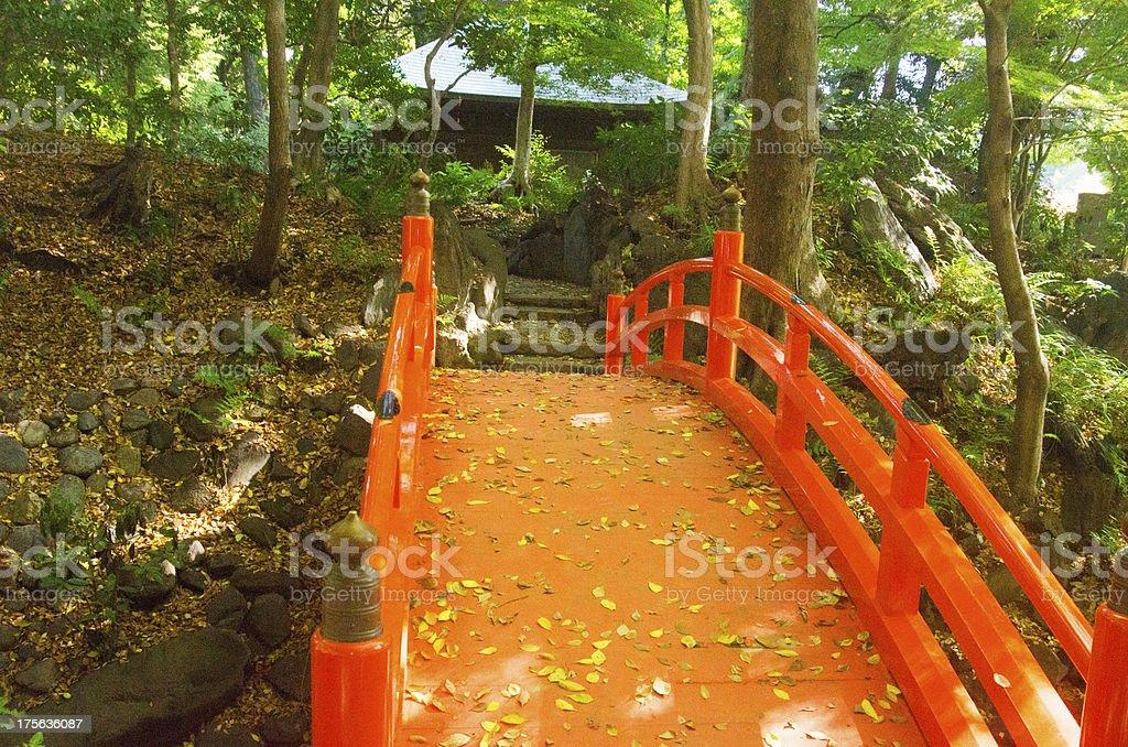 Japanese bridge royalty-free stock photo