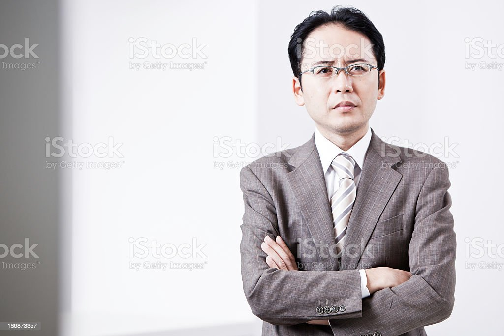 Japanese Buisness Man stock photo