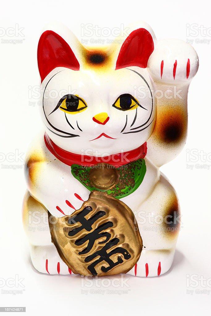 Japanese business artefact - Maneki Neko stock photo