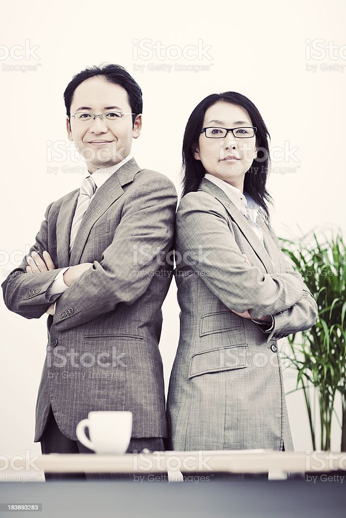 Japanese Business Colleagues stock photo
