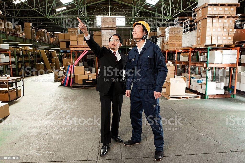 Japanese Businessman and worker stock photo