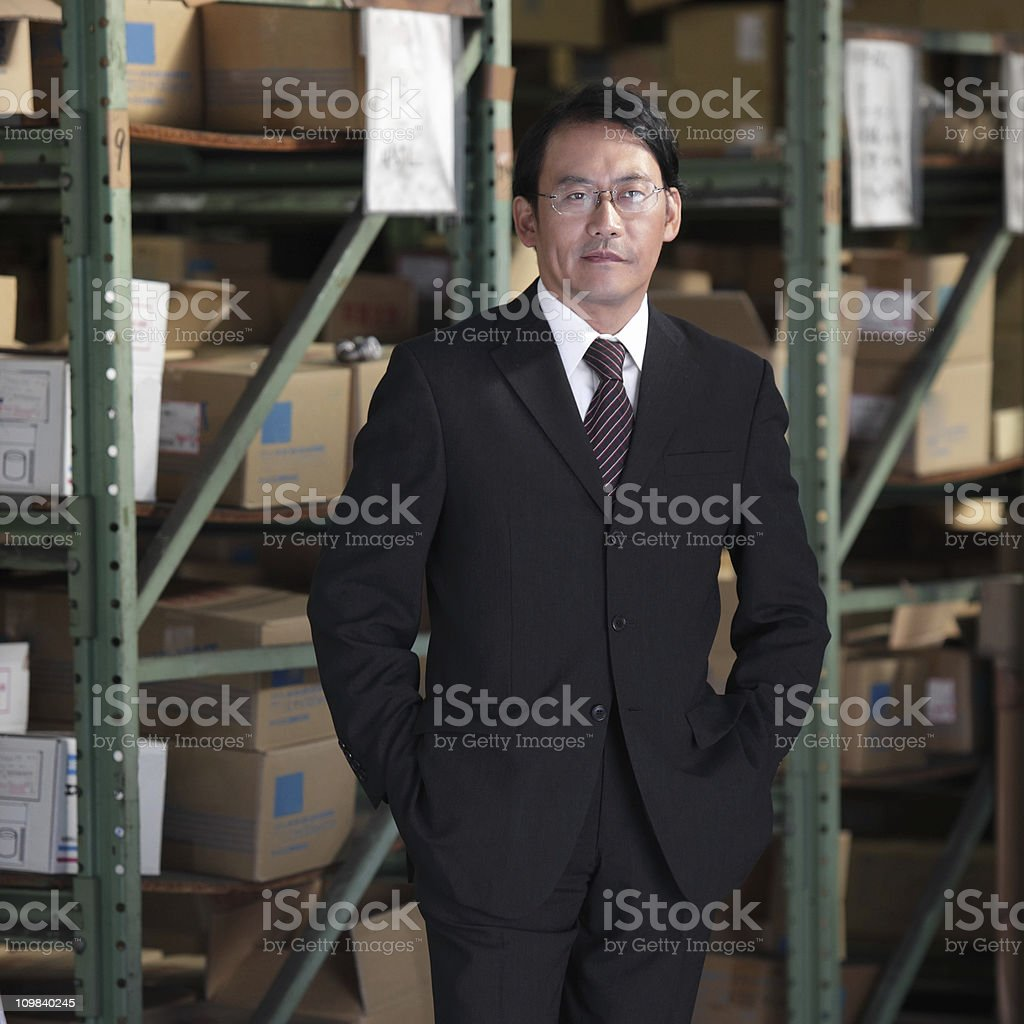 Japanese Businessman royalty-free stock photo