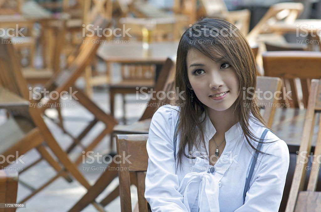 Japanese Cafe Culture royalty-free stock photo