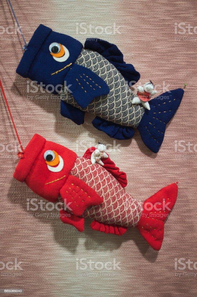 Japanese carp crafts stock photo
