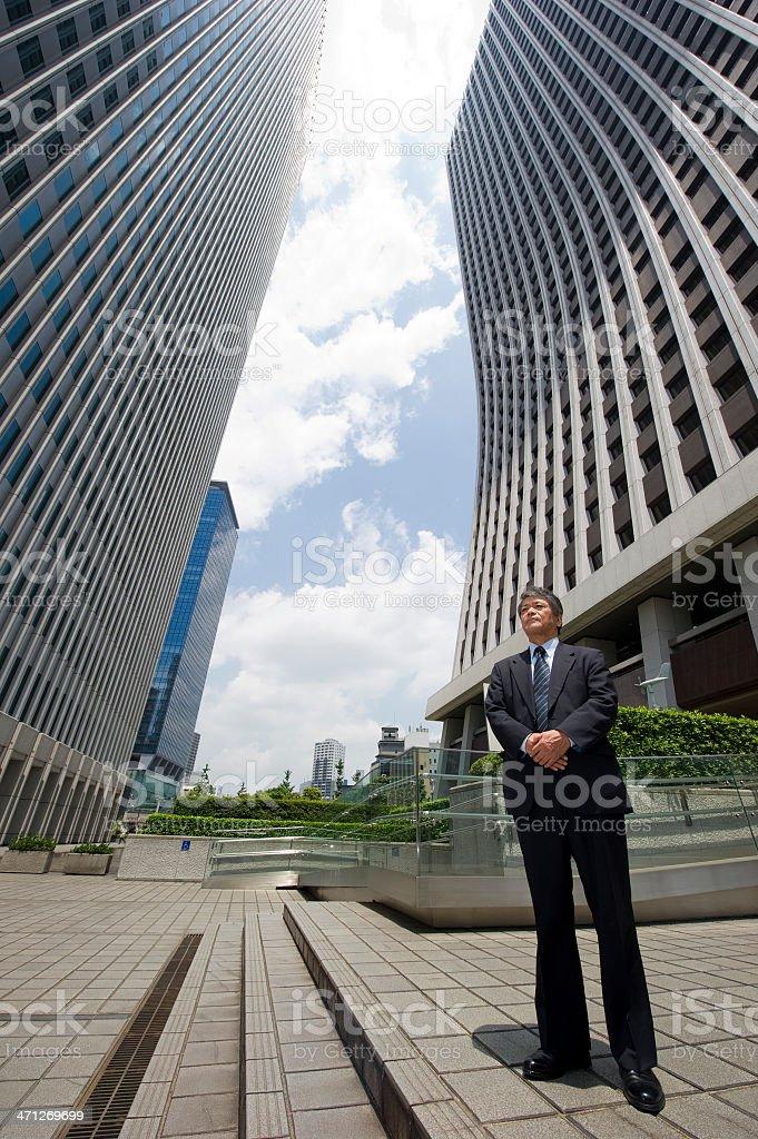 Japanese CEO royalty-free stock photo