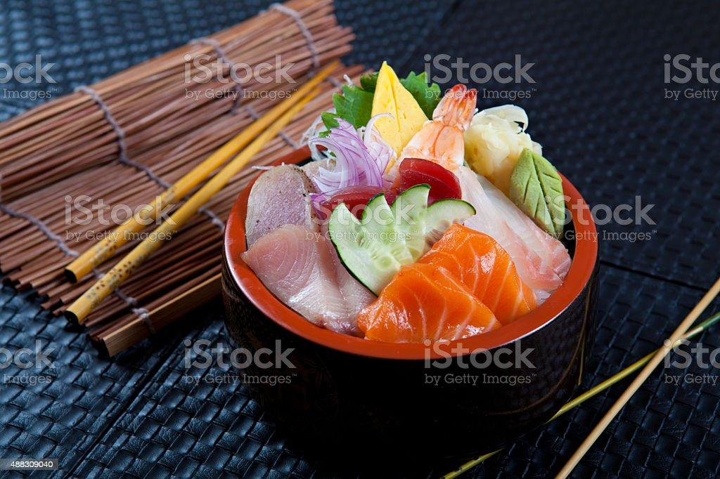 Japanese Chirashi Bowl stock photo