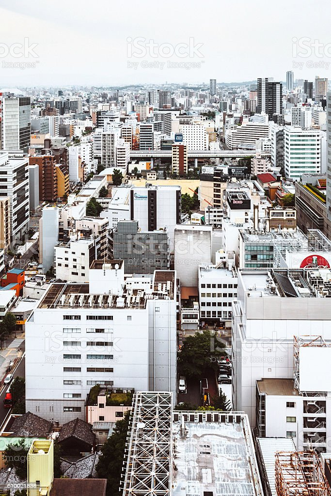 Japanese city, Nagoya. stock photo