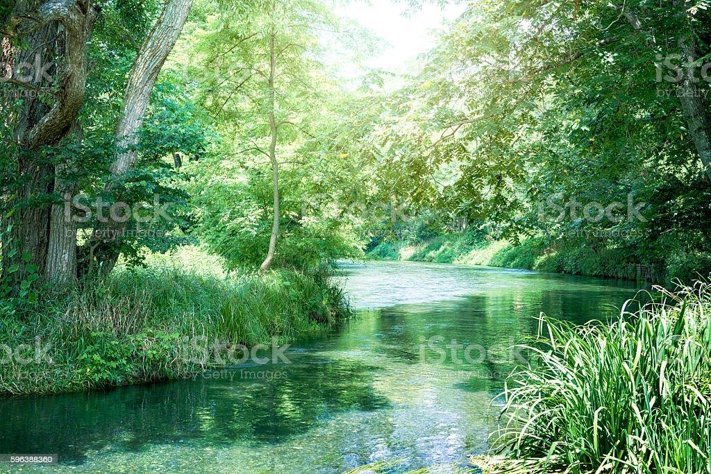 Japanese clear stream stock photo