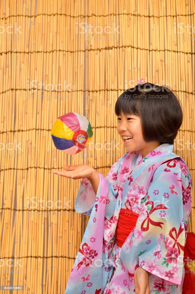 Japanese clothes girl stock photo