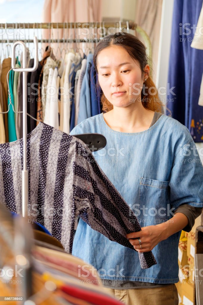 Japanese Clothing Shop stock photo