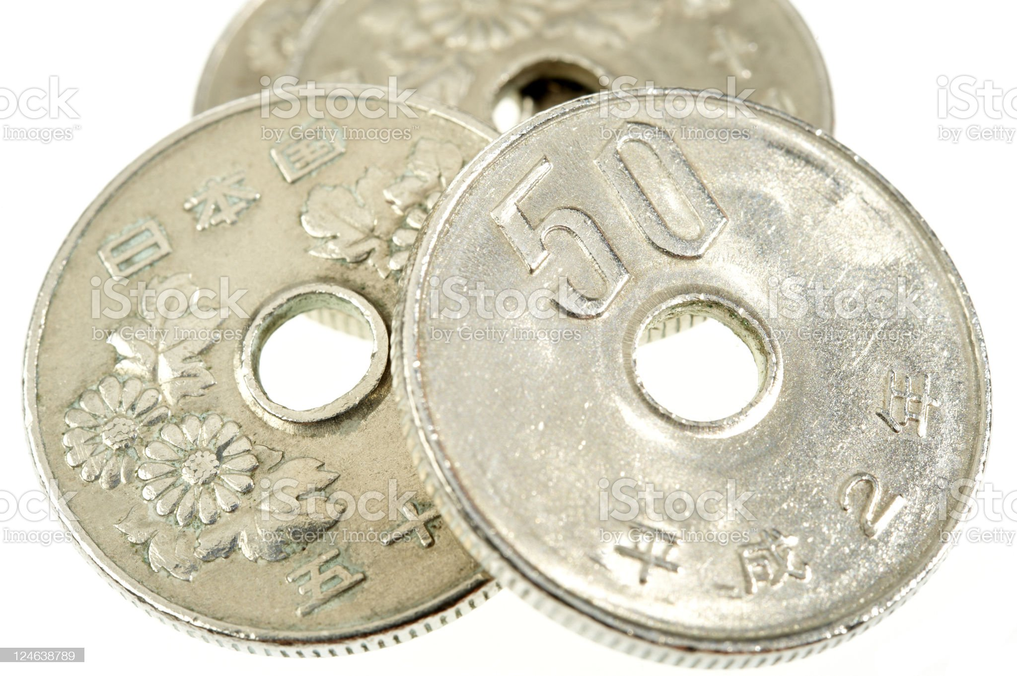 Japanese Coins royalty-free stock photo