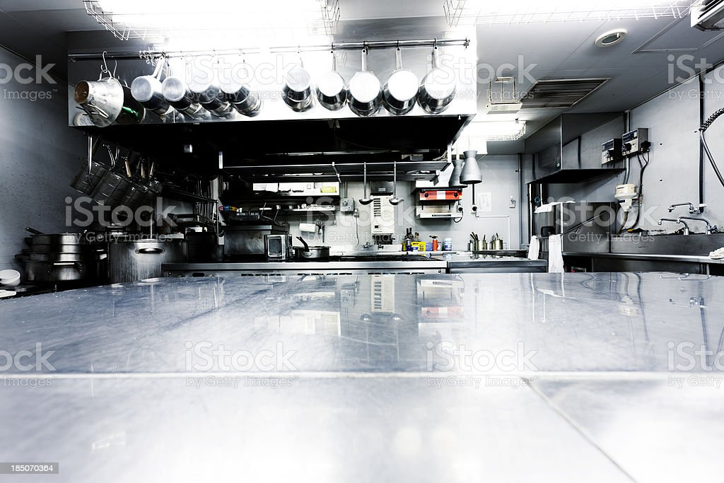 Japanese commercial kitchen stock photo