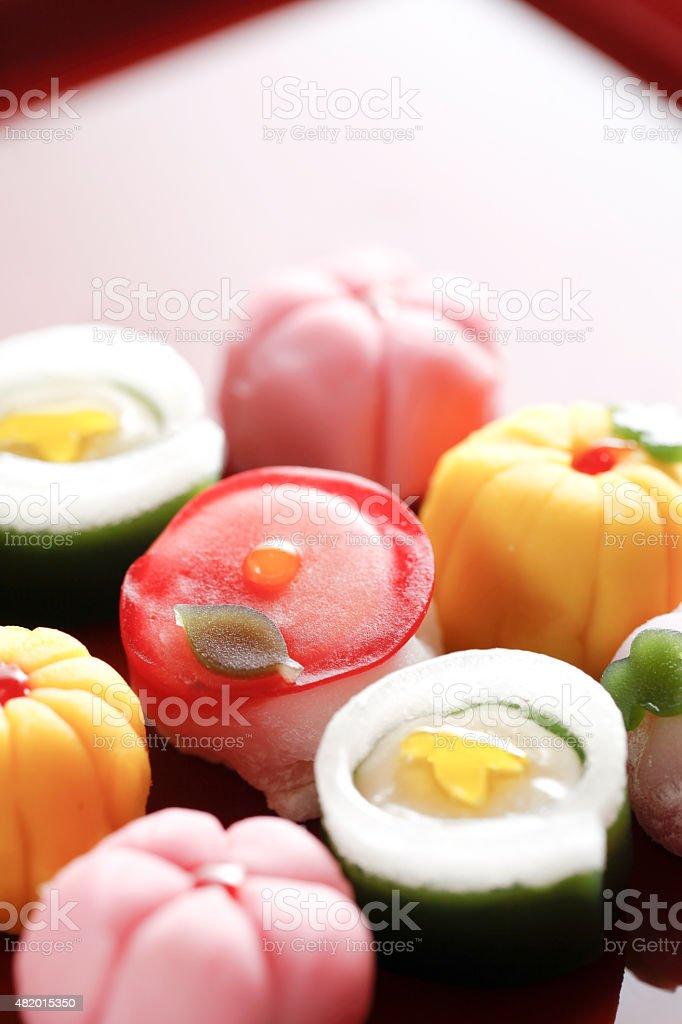 Japanese confectionery stock photo
