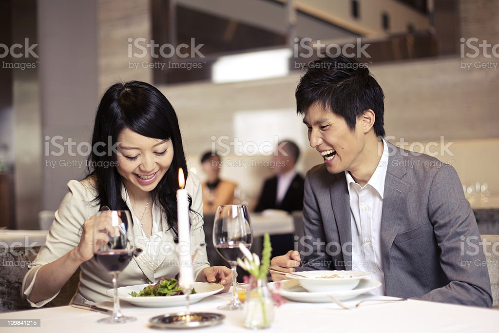 Japanese Couple Dating stock photo