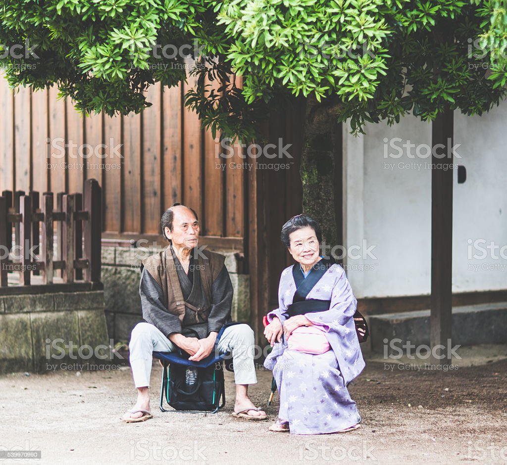 Japanese couple stock photo
