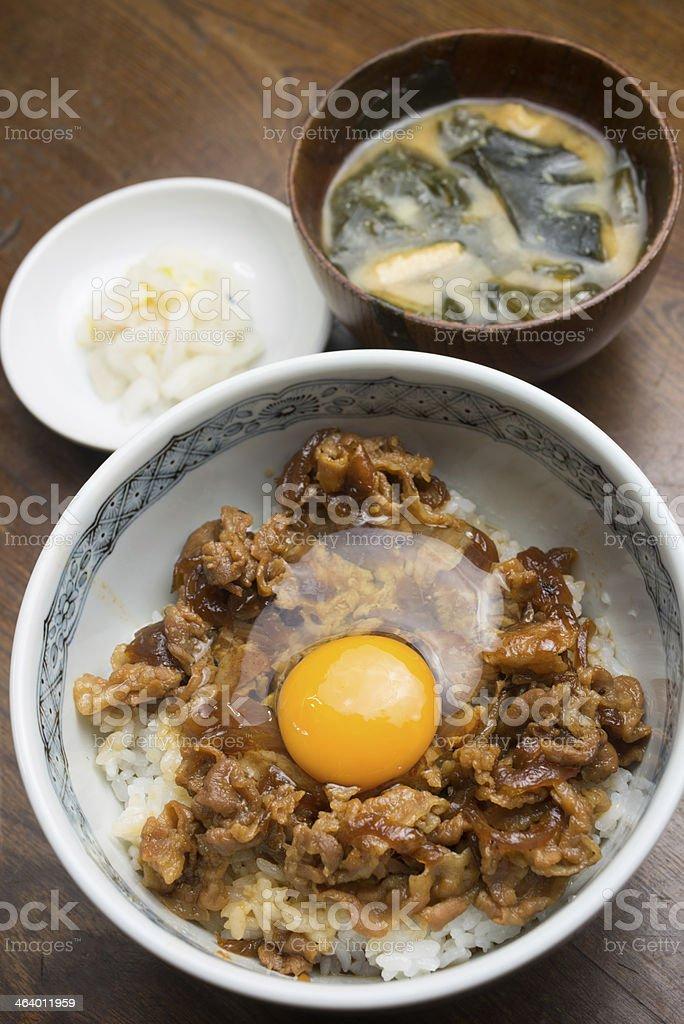 Japanese cuisine Butadon royalty-free stock photo