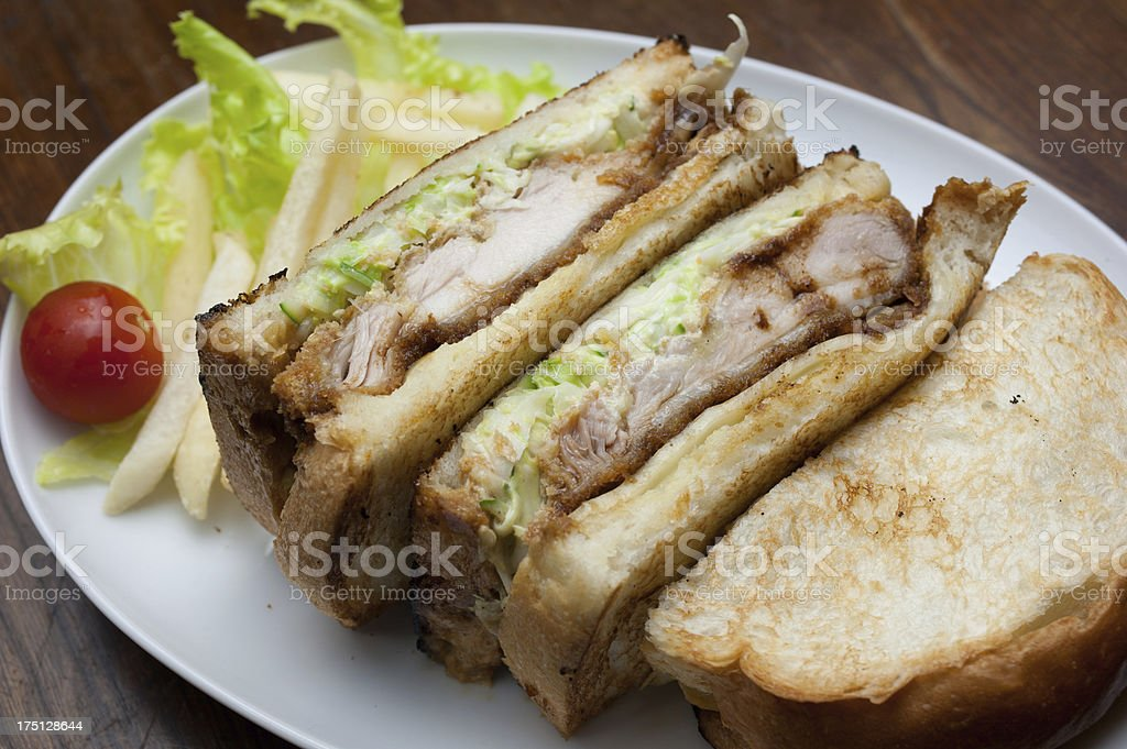 Japanese Cuisine Chicken sandwich stock photo