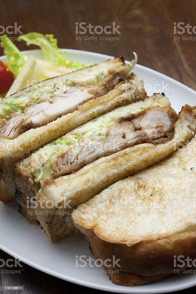 Japanese Cuisine Chicken sandwich royalty-free stock photo