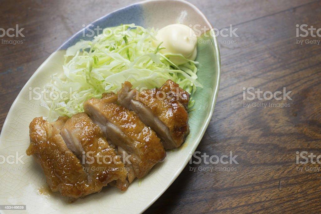 Japanese Cuisine Chicken teriyaki royalty-free stock photo