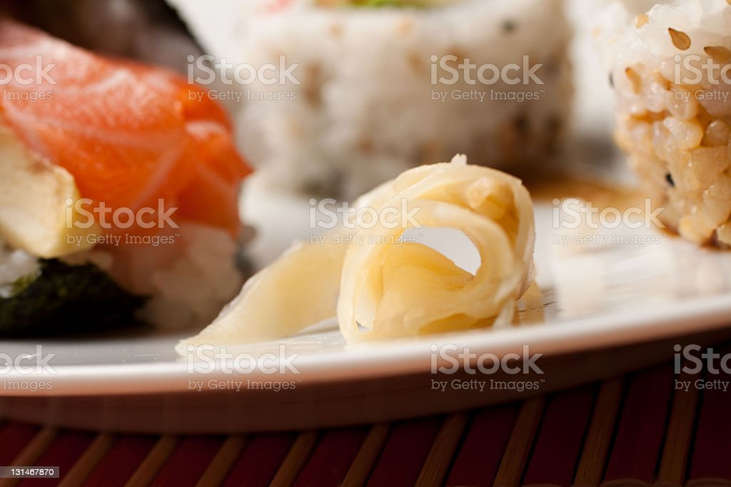 Japanese Cuisine - Gari royalty-free stock photo