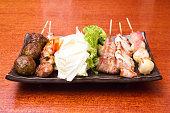 Japanese cuisine Grilled, Japanese skewered meat,Yakitori