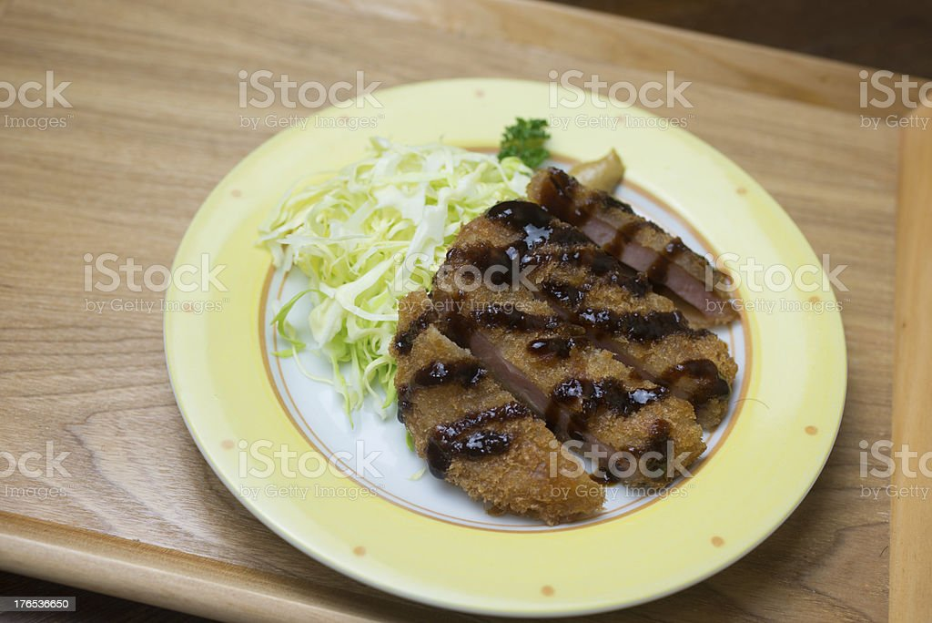 Japanese cuisine Hamu katsu royalty-free stock photo