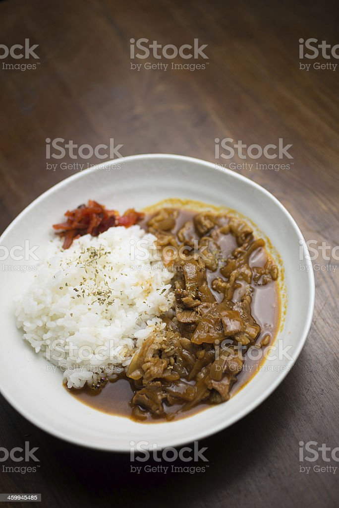 Japanese cuisine Hayashi rice stock photo