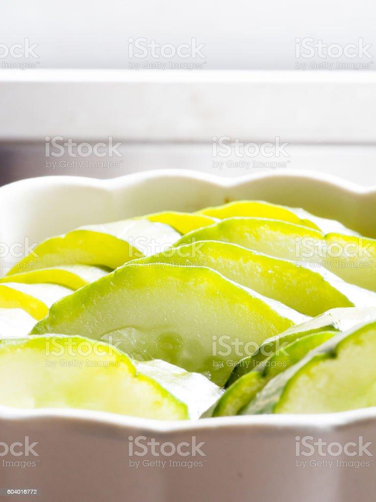 Japanese cuisine, Japanese pickled cucumbers called Nukazuke stock photo
