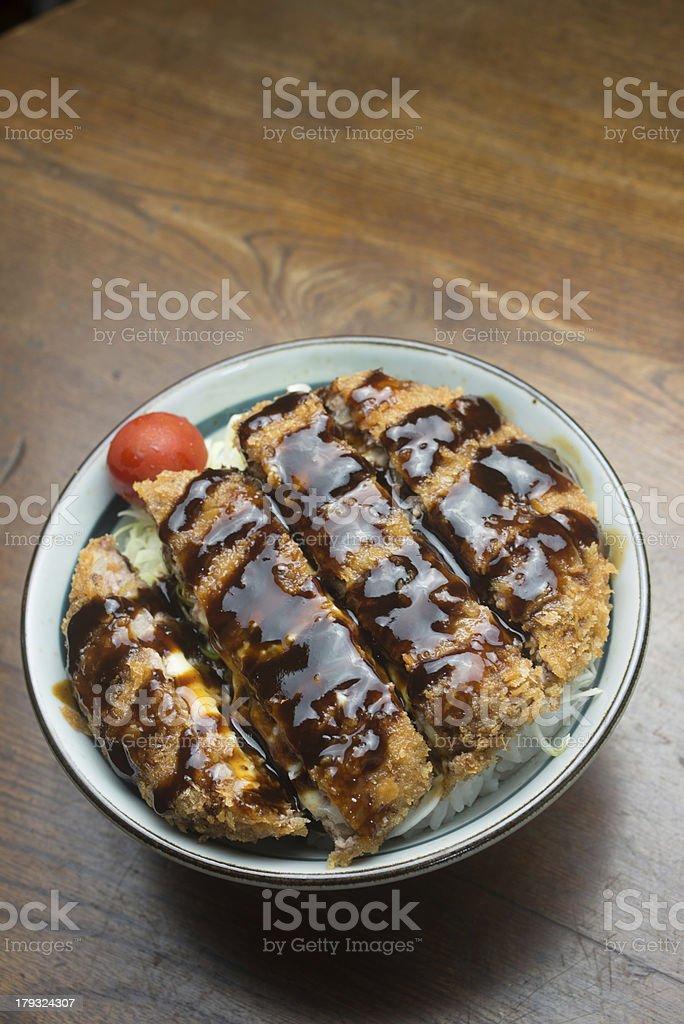 Japanese cuisine Menchi katsudon royalty-free stock photo
