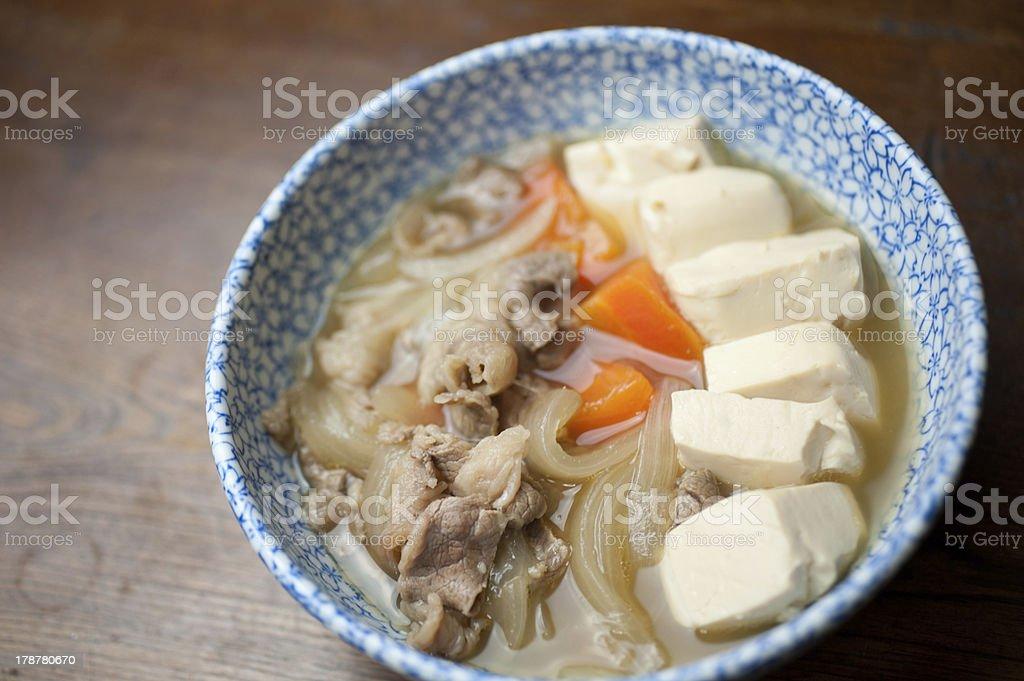 Japanese Cuisine Nikudofu royalty-free stock photo