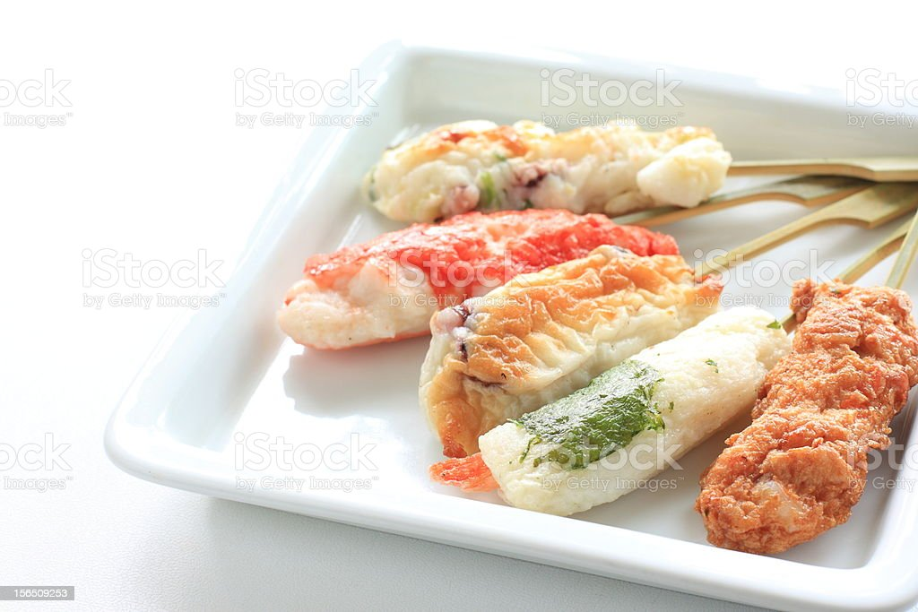 japanese cuisine, oden on dish royalty-free stock photo