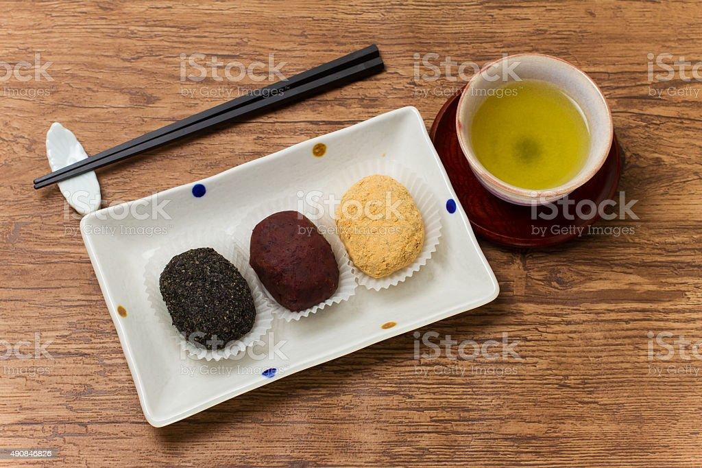Japanese cuisine, Ohagi stock photo