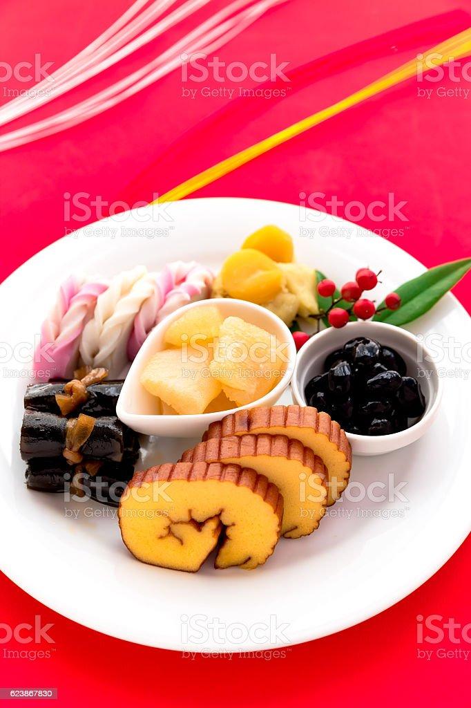 Japanese cuisine, osechi stock photo