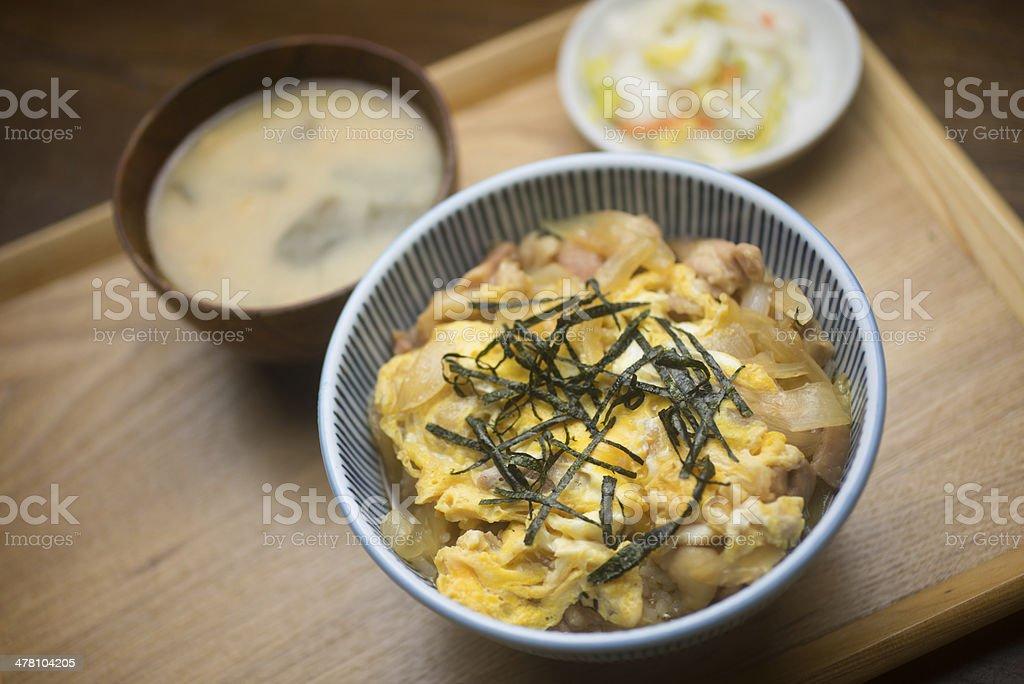 Japanese Cuisine Oyakodon royalty-free stock photo