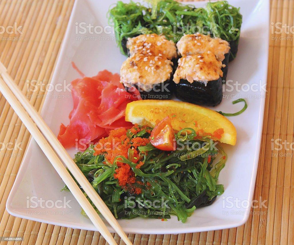 Cocina japonesa foto de stock libre de derechos