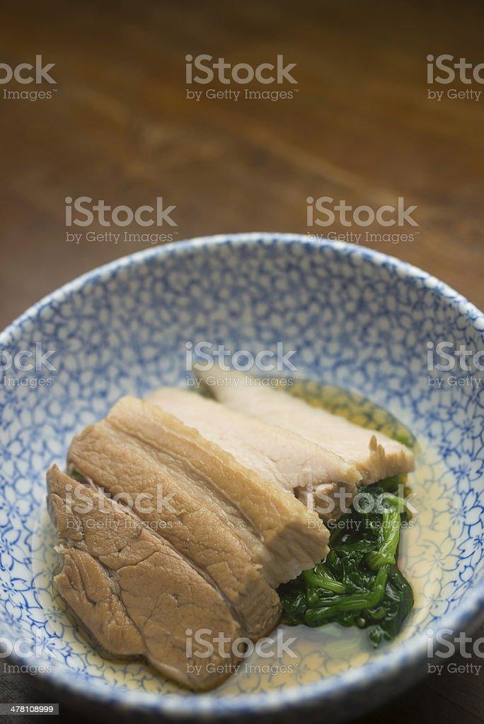 Japanese Cuisine Pork Kakuni royalty-free stock photo
